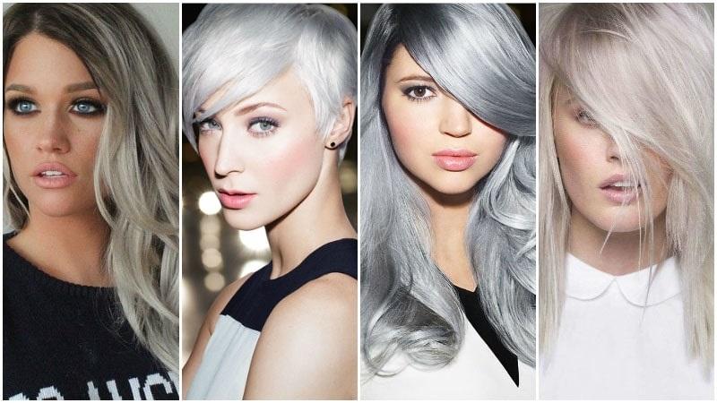 Srebrno plava boja kose