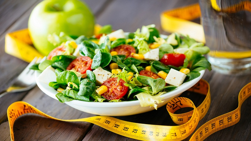 Regular workout and healthy diet