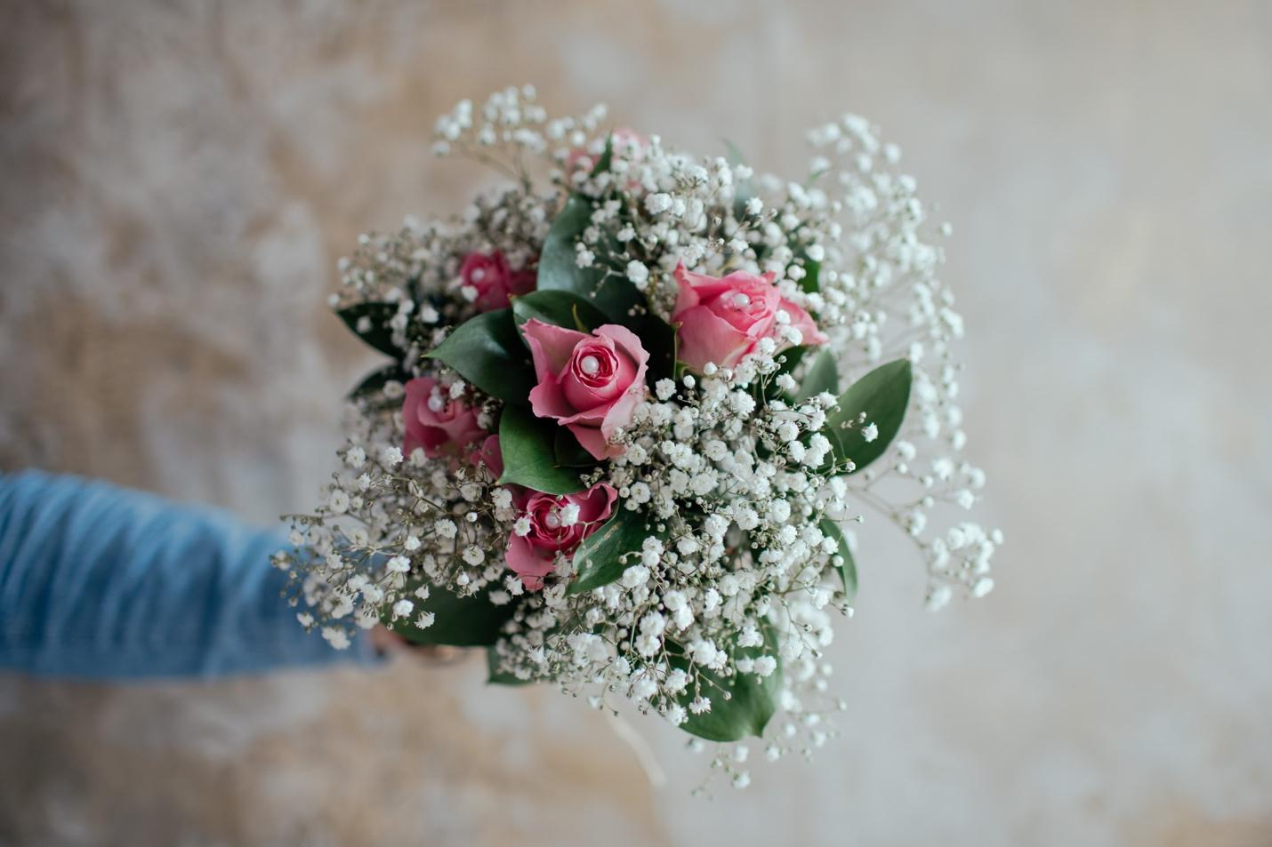 Bridal Bouquet with Baby's Breath